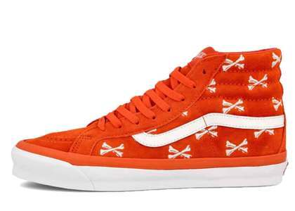 Wtaps × Vans  OG SK-8 Hi LX Cross Bone Orange 20FW