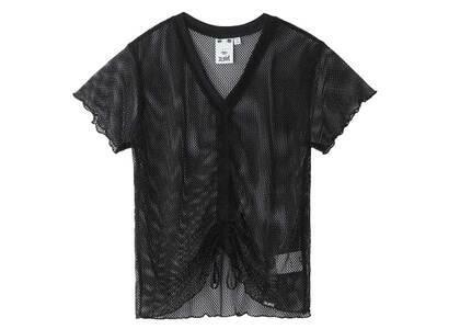 X-Girl Mesh Shirred S/S Top Blackの写真