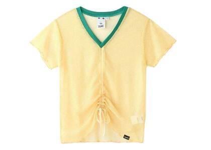 X-Girl Mesh Shirred S/S Top Yellowの写真