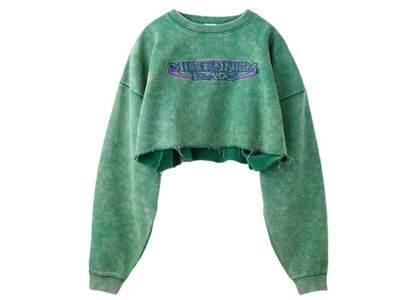 X-Girl Millennium Rads Cropped Sweat Top Greenの写真