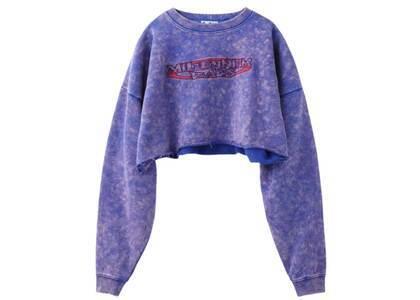 X-Girl Millennium Rads Cropped Sweat Top Purpleの写真