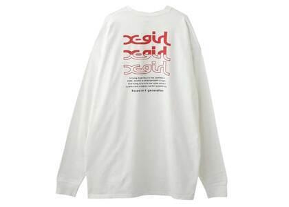 X-Girl Mills Logo L/S Tee Dress Whiteの写真