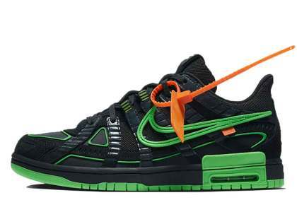 Off-White × Nike Air Rubber Dunk Green Strike