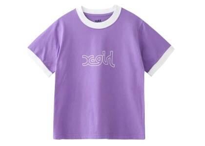 X-Girl Mills Logo S/S Ringer Tee Purpleの写真