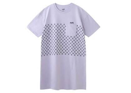 X-Girl Monogram S/S Tee Dress Light Purpleの写真