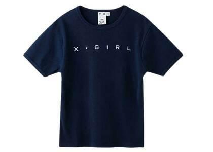 X-Girl One Star Logo S/S Baby Tee Navyの写真