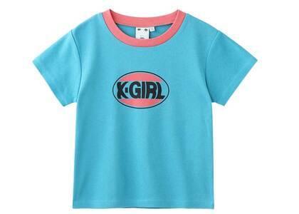 X-Girl Oval Logo Baby Tee Light Blueの写真