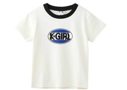 X-Girl Oval Logo Baby Tee Whiteの写真