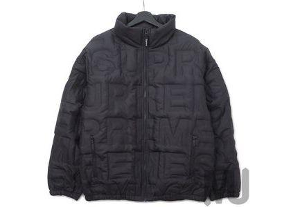 Supreme Bonded Logo Down Jacket Blackの写真