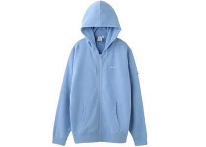 X-Girl Oval Logo Zip UpSweat Hoodie Light Blueの写真