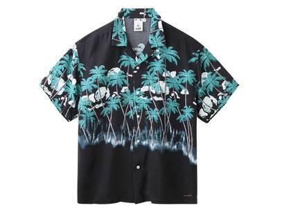 X-Girl Palm Aloha Open Collar Shirt Blackの写真
