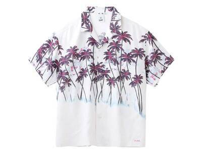 X-Girl Palm Aloha Open Collar Shirt Whiteの写真