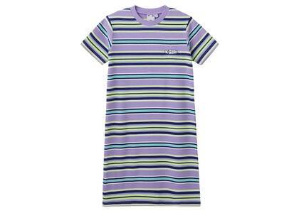 X-Girl Petal Logo Striped S/S Baby Dress Light Purpleの写真