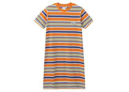 X-Girl Petal Logo Striped S/S Baby Dress Orangeの写真