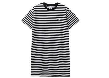 X-Girl Petal Logo Striped S/S Tee Dress Blackの写真