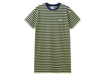 X-Girl Petal Logo Striped S/S Tee Dress Navyの写真