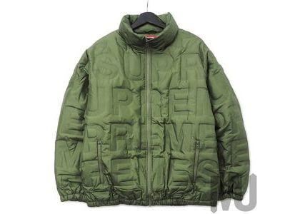 Supreme Bonded Logo Down Jacket Oliveの写真