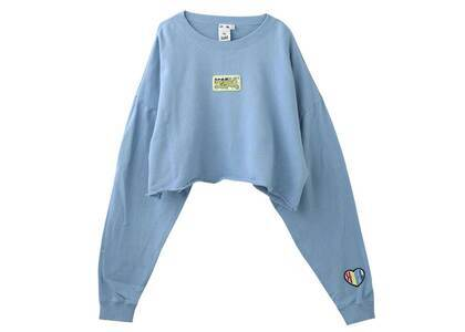 X-Girl Prism Patch Cropped Crew Sweat Top Blueの写真