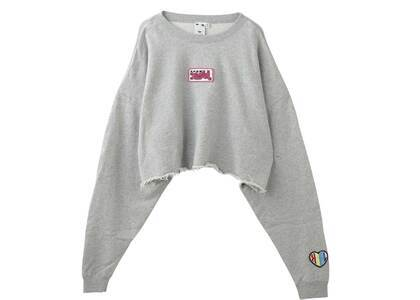 X-Girl Prism Patch Cropped Crew Sweat Top Whiteの写真