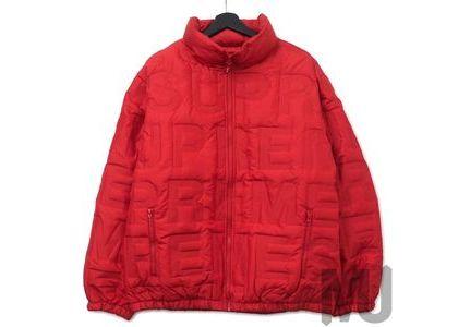 Supreme Bonded Logo Down Jacket Redの写真