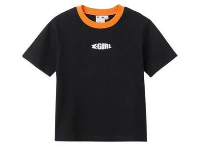X-Girl Ringer Baby S/S Top Blackの写真