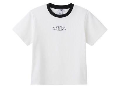 X-Girl Ringer Baby S/S Top Whiteの写真