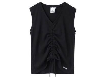 X-Girl Shirred Tank Top Blackの写真