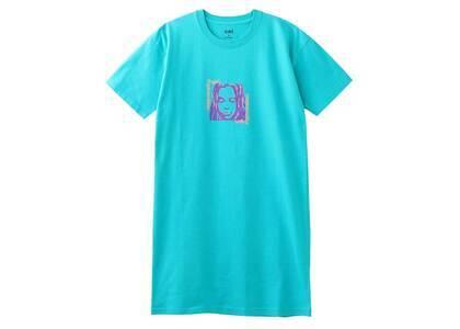 X-Girl Square Frame Face S/S Tee Dress Greenの写真
