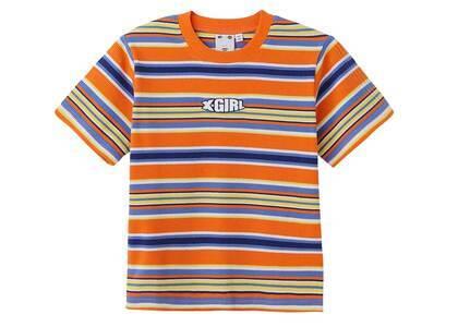 X-Girl Striped Baby S/S Top Orangeの写真