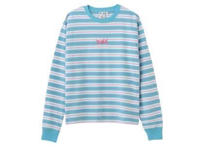 X-Girl Striped L/S Tee Blueの写真