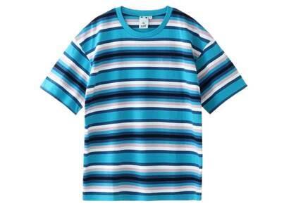 X-Girl Striped Relax S/S Tee Blueの写真