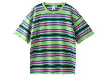 X-Girl Striped Relax S/S Tee Light Greenの写真