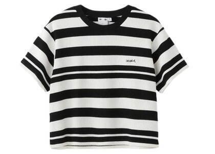 X-Girl Striped S/S Top Blackの写真
