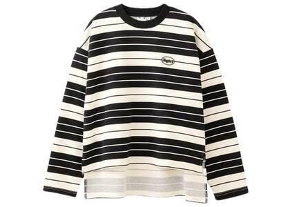X-Girl Striped Sweat Top Blackの写真