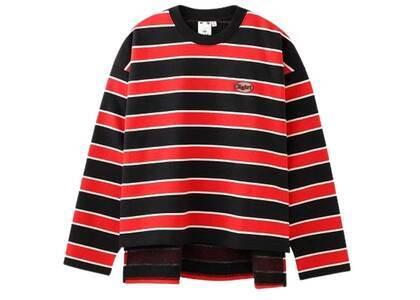 X-Girl Striped Sweat Top Redの写真
