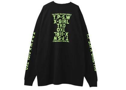 X-Girl T.P.S.W L/S Tee Dress Blackの写真