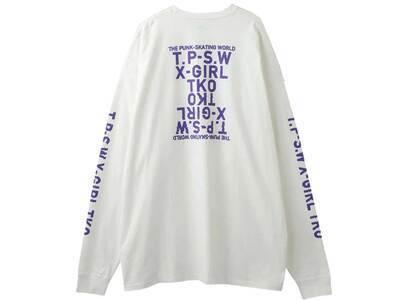 X-Girl T.P.S.W L/S Tee Dress White の写真