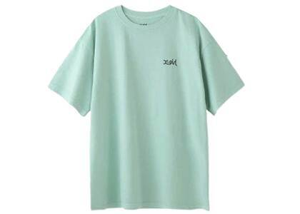 X-Girl Words Logo Pigment Dyed S/S Mens Tee Greenの写真