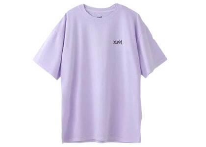X-Girl Words Logo Pigment Dyed S/S Mens Tee Purpleの写真