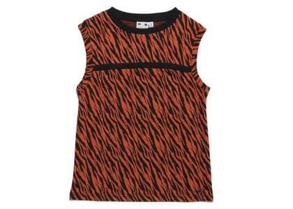 X-Girl Zebra Jacquard Top Orangeの写真