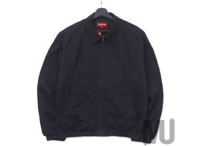 Supreme Patchwork Harrington Jacket Blackの写真