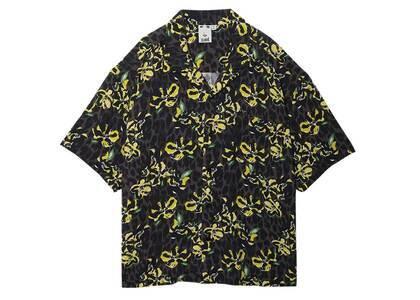 X-GirlFloral Leopard Aloha Open Collar Shirt Grayの写真