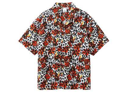 X-GirlFloral Leopard Aloha Open Collar Shirt Whiteの写真