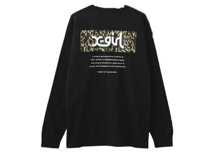 X-Girl Leopard Box L/S Tee Black (Back Print)の写真