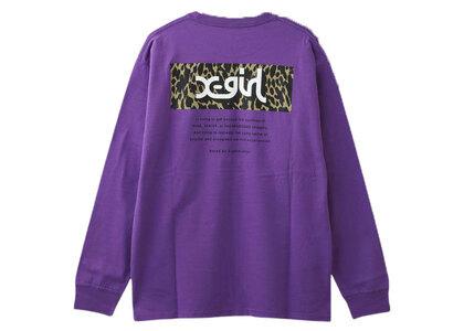 X-Girl Leopard Box L/S Tee Purple (Back Print)の写真