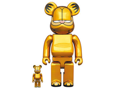 Be@rbrick Garfield Gold Chrome Ver 100% & 400%の写真