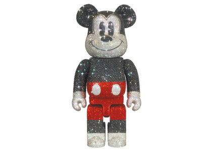 Crystal Decorate Mickey Mouse Be@rbrick 400% R&W Verの写真