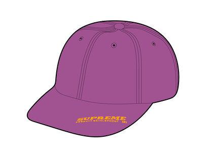 Supreme Visor Logo 6-Panel Purple (SS21)の写真