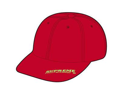 Supreme Visor Logo 6-Panel Red (SS21)の写真