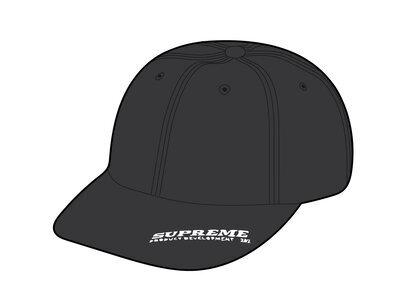 Supreme Visor Logo 6-Panel Black (SS21)の写真